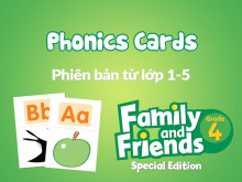 Family and Friends Special Edition 4 (Phiên bản từ lớp 1-5) - Phonics Cards