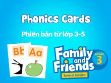 Family and Friends Special Edition Grade 3 (Phiên bản từ lớp 3-5)  - Tranh ngữ âm (Phonics Cards)
