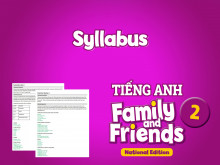 Syllabus - Tiếng Anh 2 Family and Friends National Edition
