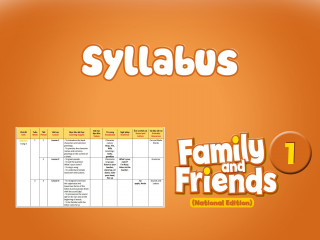 Family and Friends National Edition 1 - Syllabus