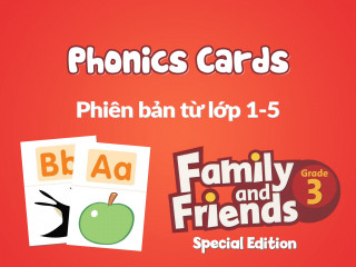 Family and Friends Special Edition 3 (Phiên bản từ lớp 1-5) - Phonics Cards