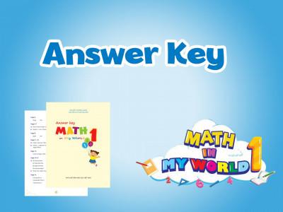 Math in my World 1 - Đáp án kèm sách (Answer Key)